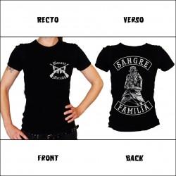 "Tshirt Femme ""SANGRE FAMILIA GUN"""