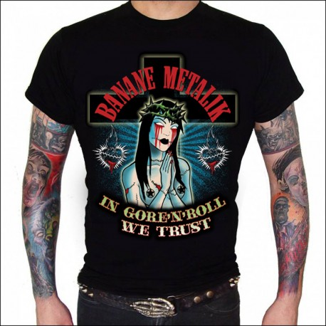 "Men Tshirt ""SANTA GORE'N'ROLL"""