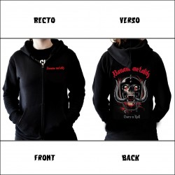 "Women hooded zip sweat ""LET THERE BE GORE"""